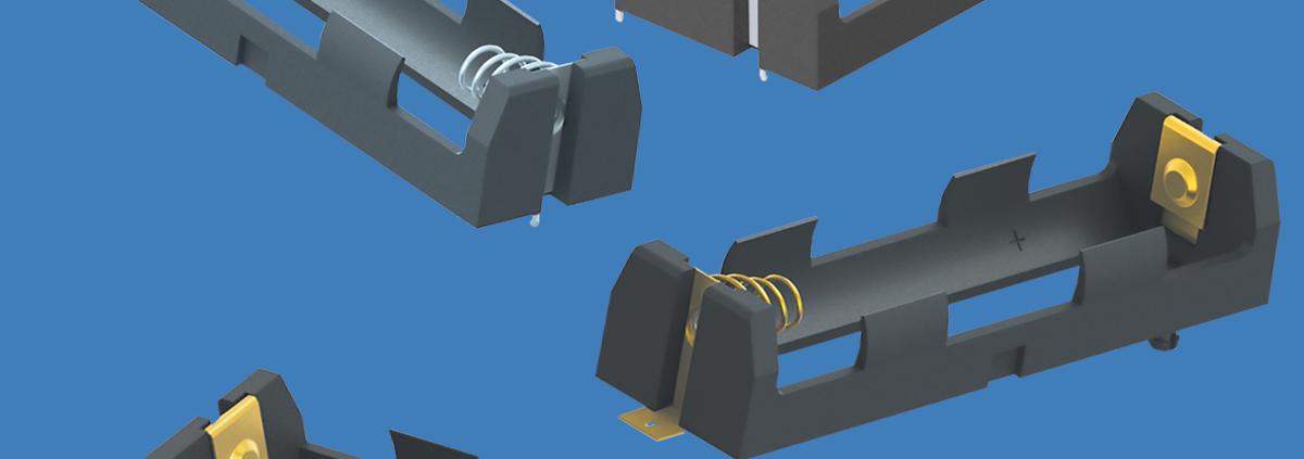 Keystone Europe MEA+India - Low Profile 20700 & 21700 Lithium-Ion Battery Holders